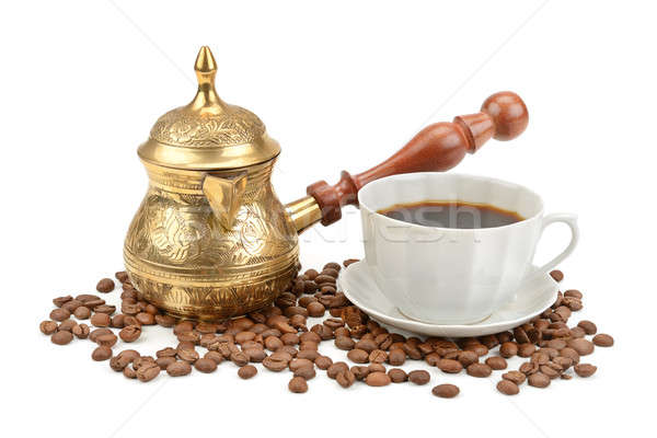 coffee pot and cup of coffee Stock photo © alinamd