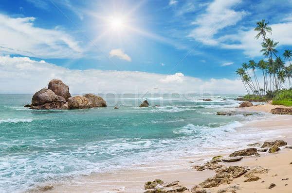 Océan pittoresque plage ciel bleu soleil nature Photo stock © alinamd