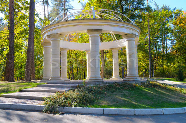 beautiful arbor in autumn park Stock photo © alinamd