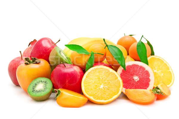 Set of fruits on white background Stock photo © alinamd