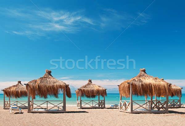 Férias beira-mar recorrer céu paisagem fundo Foto stock © alinamd