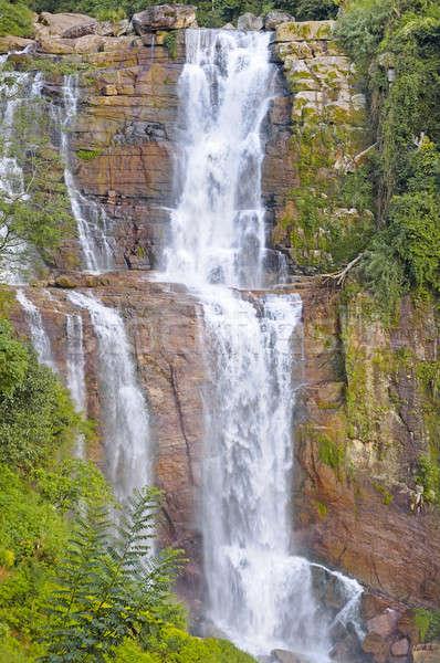 big waterfall in the mountains Stock photo © alinamd