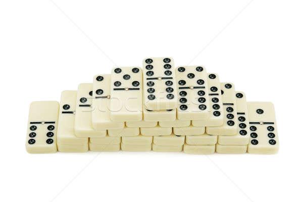 Stockfoto: Geïsoleerd · witte · business · groep · speelgoed · kleur