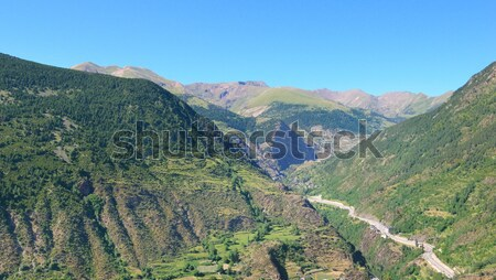 scenic mountains and the city in a mountain valley Stock photo © alinamd