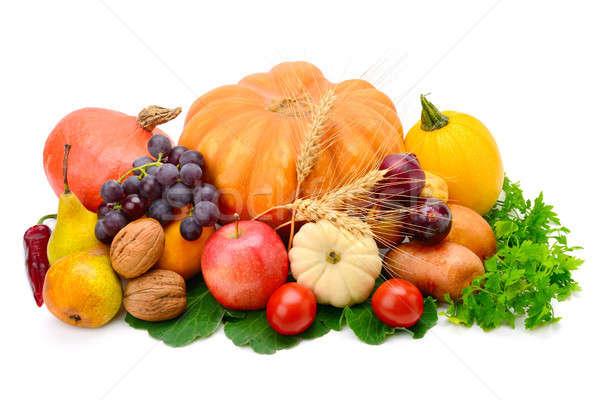 Vruchten plantaardige geïsoleerd witte vruchten groenten Stockfoto © alinamd