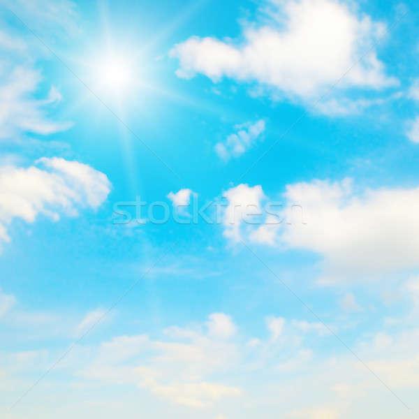 Wazig hemel natuur achtergrond zomer Blauw Stockfoto © alinamd