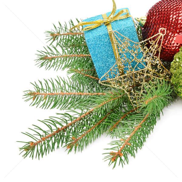 Christmas decoratie geïsoleerd witte ontwerp bal Stockfoto © alinamd