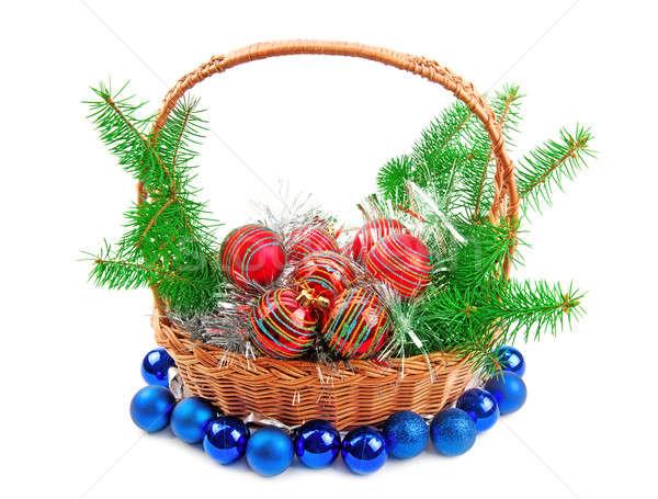 Natal decorações enfeitar isolado branco verde Foto stock © alinamd