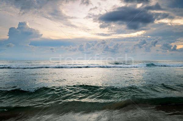 Paesaggio marino nuvoloso cielo spiaggia acqua natura Foto d'archivio © alinamd