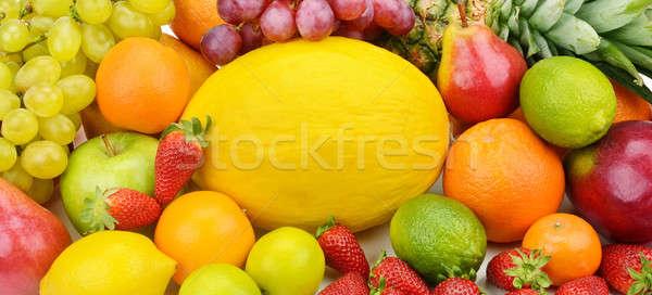 Szett gyümölcsök étel alma szín citrom Stock fotó © alinamd