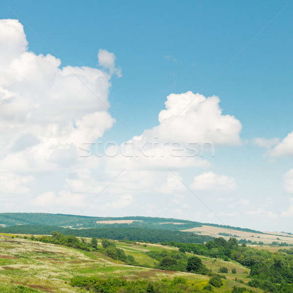 picturesque hills against the blue sky Stock photo © alinamd