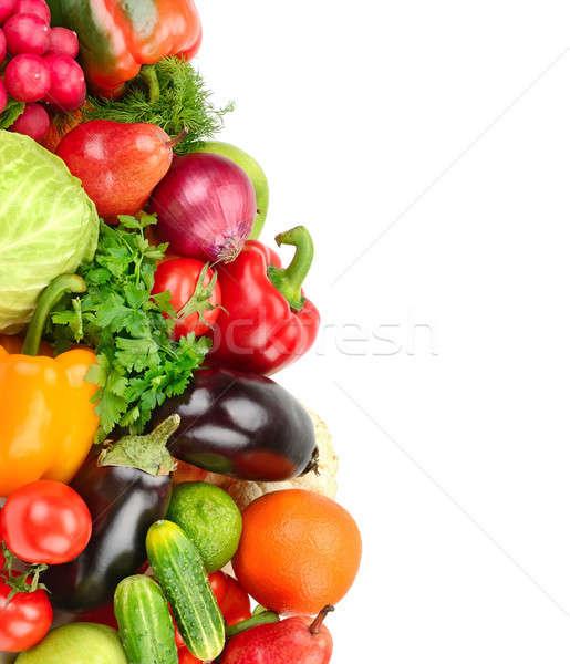 Owoców warzyw odizolowany biały zestaw wolna Zdjęcia stock © alinamd