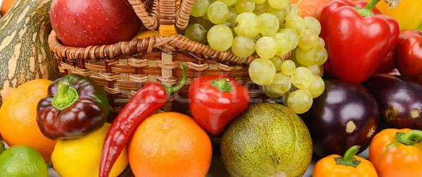 Parlak meyve sebze meyve sağlık turuncu Stok fotoğraf © alinamd