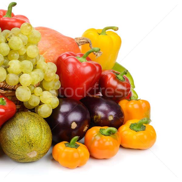 Frutas legumes isolado branco maçã saúde Foto stock © alinamd
