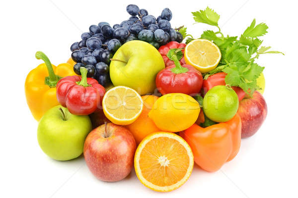 useful set of fruits and vegetables Stock photo © alinamd