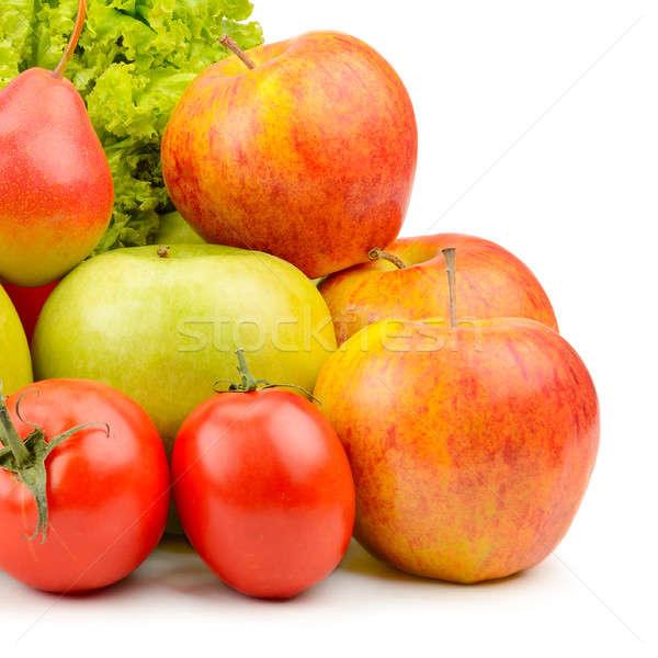 Gyümölcsök zöldségek izolált fehér háttér vásárlás Stock fotó © alinamd