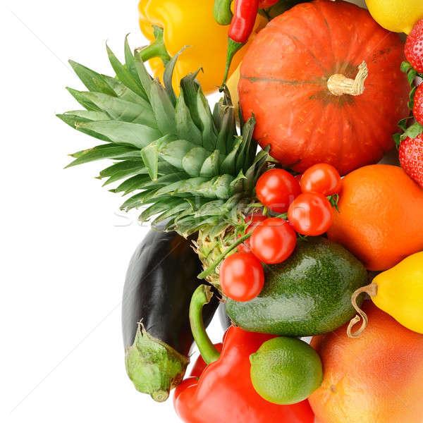 Frutas hortalizas aislado blanco establecer alimentos Foto stock © alinamd