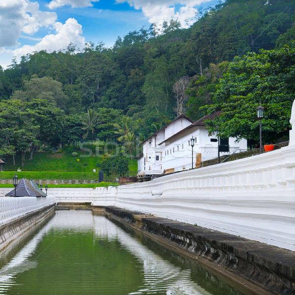 Stock fotó: Buddhista · templom · fog · Buddha · Sri · Lanka · víz