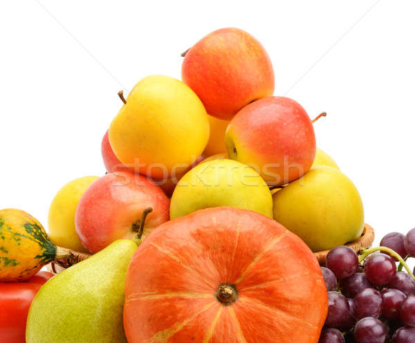 Fruto isolado branco comida maçã Foto stock © alinamd