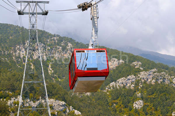 The gondola lift to the top of the mountains Stock photo © alinamd