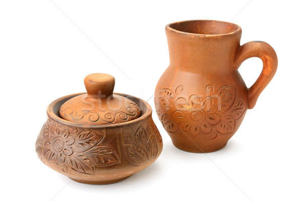 brown ware isolated on white background Stock photo © alinamd