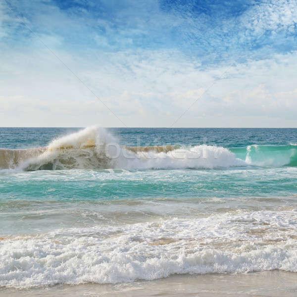 sea, sand beach and blue sky Stock photo © alinamd