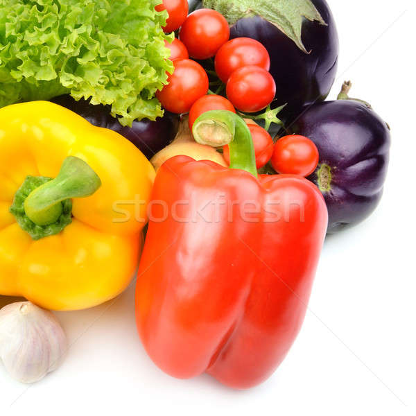 Foto stock: Legumes · isolado · branco · comida · folha · verde