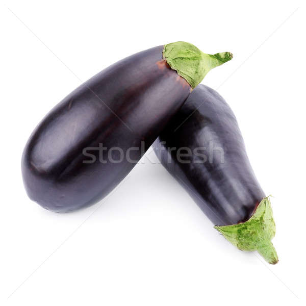 ripe eggplants isolated on white background Stock photo © alinamd