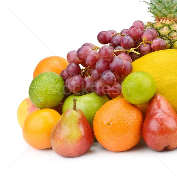 Gyümölcs bogyók izolált fehér étel háttér Stock fotó © alinamd