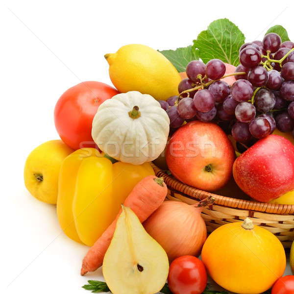 fruit and vegetable isolated on white background Stock photo © alinamd