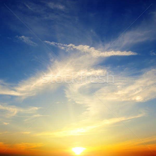 Güzel gündoğumu bulutlu gökyüzü bulutlar güneş Stok fotoğraf © alinamd