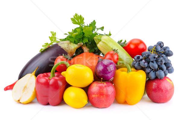 Owoców warzyw odizolowany biały owoce warzyw Zdjęcia stock © alinamd