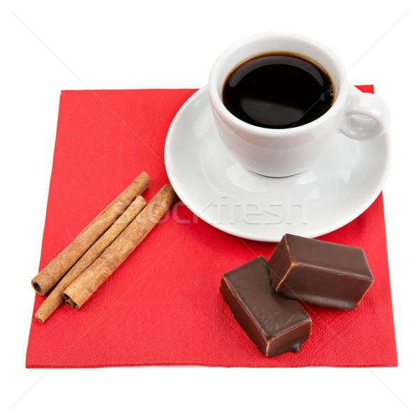 cup of coffee, chocolate and vanilla  Stock photo © alinamd