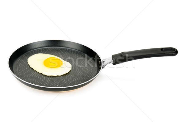 pan with fried eggs Stock photo © alinamd