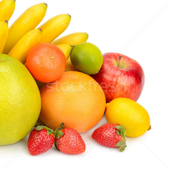 Stock photo: fruit set isolated on a white background