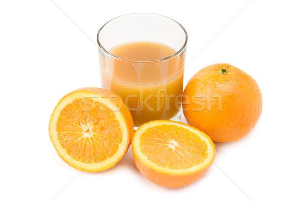 Oranges and orange juice Stock photo © alinamd