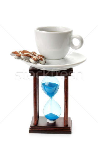 hourglass and a cup of coffee Stock photo © alinamd