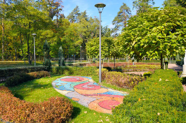 beautiful summer park with street lamp Stock photo © alinamd