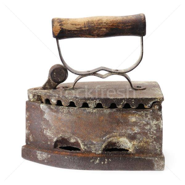 Old iron isolated on white background Stock photo © alinamd