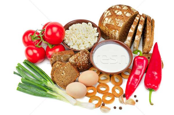 set of useful food isolated on white background Stock photo © alinamd