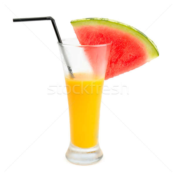 fruit juice and a slice of watermelon isolated on white backgrou Stock photo © alinamd