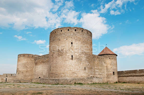 ancient fortress with towers and fortified wall Stock photo © alinamd