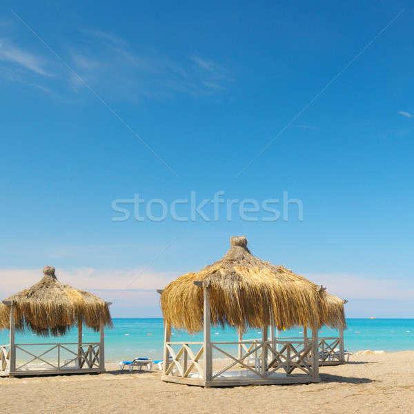 Vízpart üdülőhely ünnep tengerpart épület nap Stock fotó © alinamd