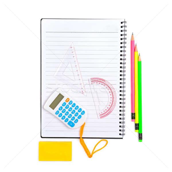 School witte geïsoleerd kantoor boek Stockfoto © alinamd
