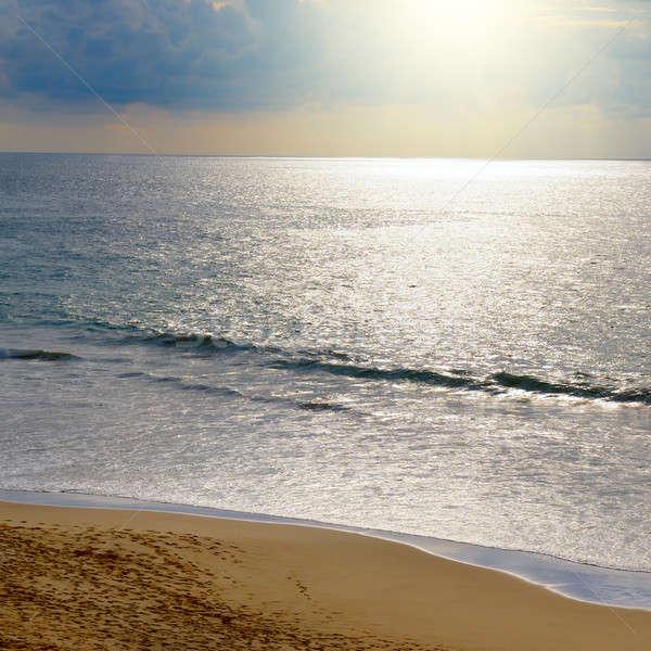 Сток-фото: океана · закат · темно · небе · воды · весны