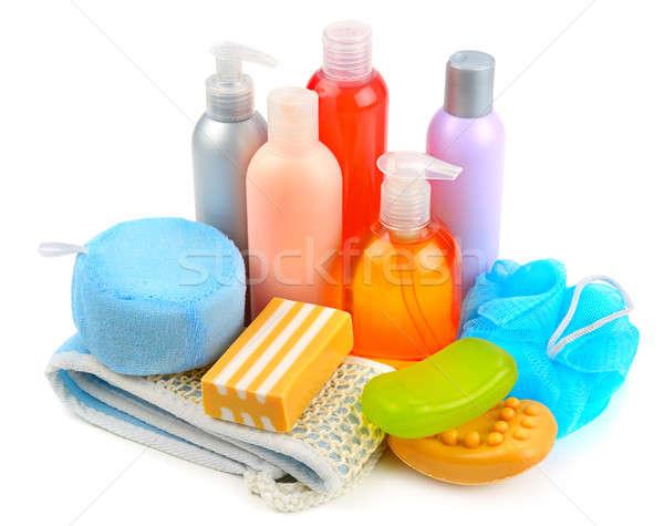 Spugna isolato bianco bellezza pulizia sapone Foto d'archivio © alinamd