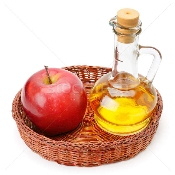 apple cider vinegar and apples isolated on white background Stock photo © alinamd