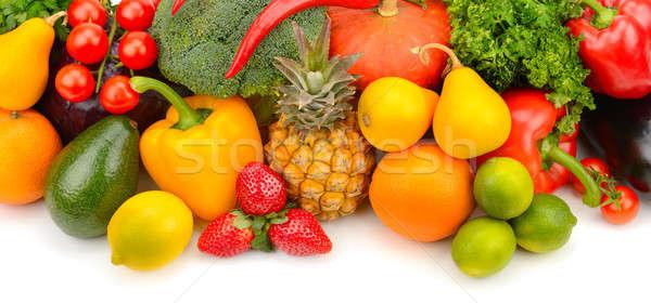 Vruchten groenten witte geïsoleerd voedsel vruchten Stockfoto © alinamd