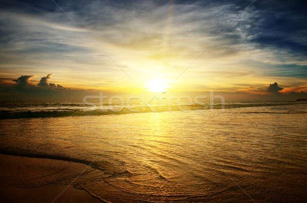 Zonsopgang oceaan hemel water abstract zonsondergang Stockfoto © alinamd
