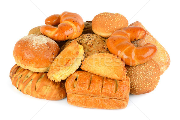 bread and bakery product isolated on white background Stock photo © alinamd
